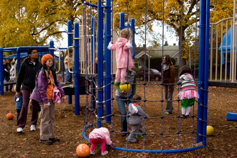 University-Ravenna Cooperative Preschool : Outdoor playground at Bryant Elementary School