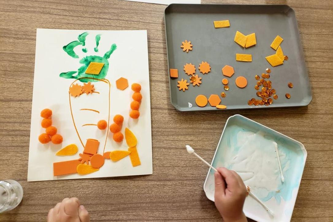 University-Ravenna Cooperative Preschool : Interpretive carrot art - we love messy art!