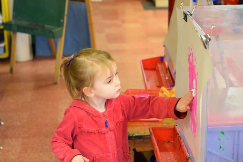 University-Ravenna Cooperative Preschool : Finger painting - we love messy art!