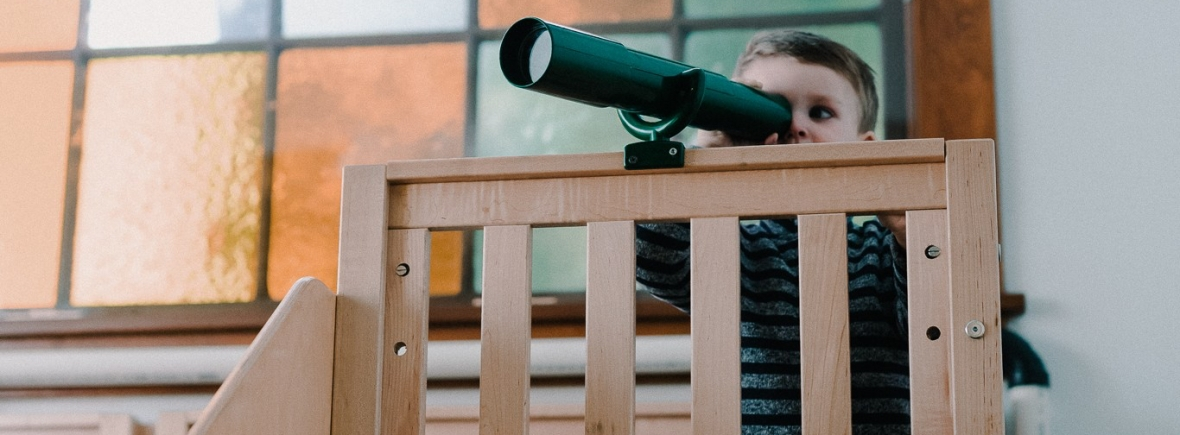 University-Ravenna Cooperative Preschool : Playing on our Observation Deck